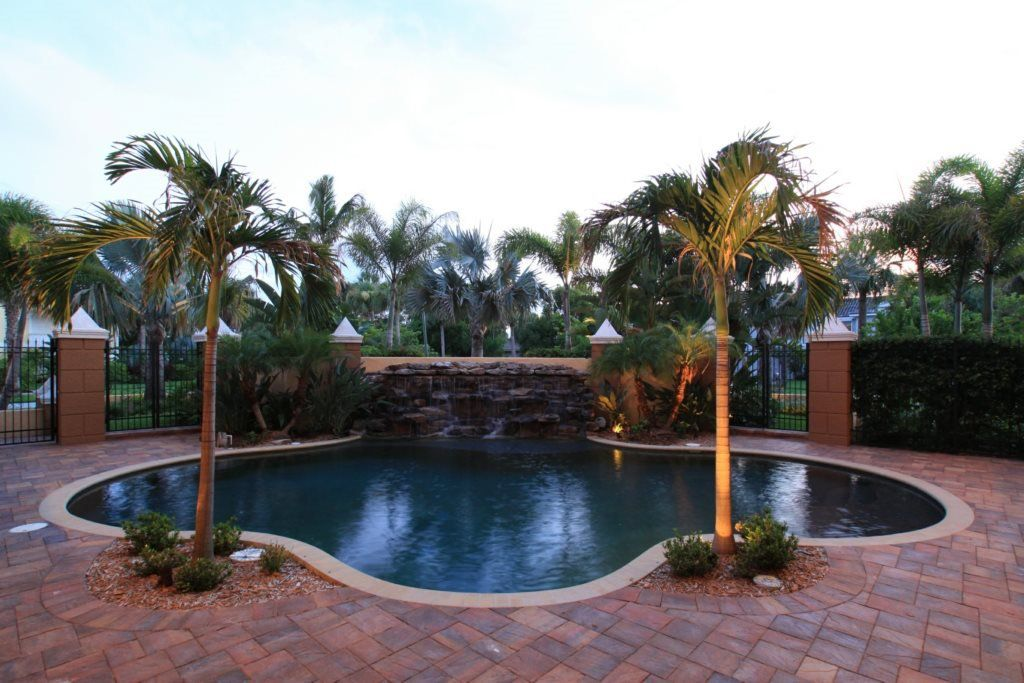 Water feature addition to Florida home