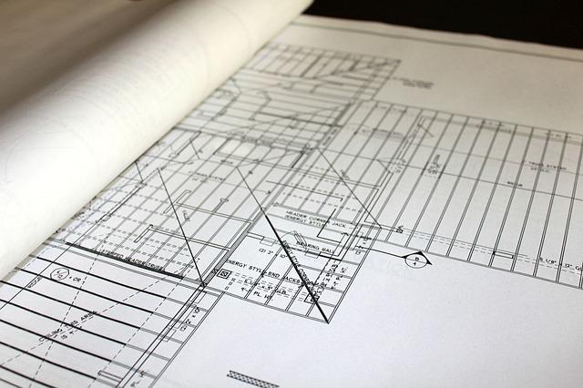 Blueprint for a floorplan of a house.